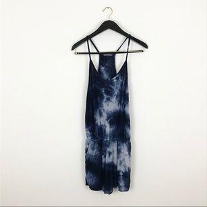 Brandy Melville Blue Tie Dye Romper